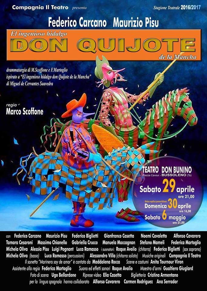 La compagnia Il Teatro di Bussoleno in una nuova rappresentazione diretta da Marco Scoffone. Drammaturgia di M. Scoffone e F. Martoglio.