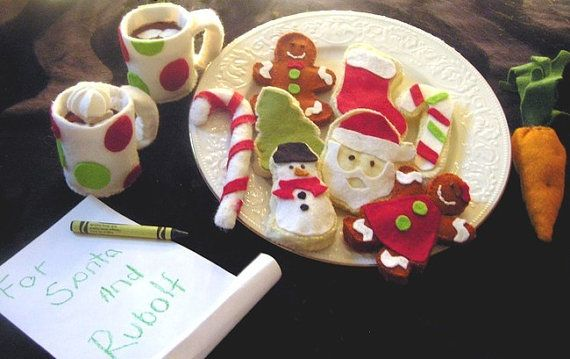 Waiting for Santa Christmas gingerbread by AmericanFeltandCraft