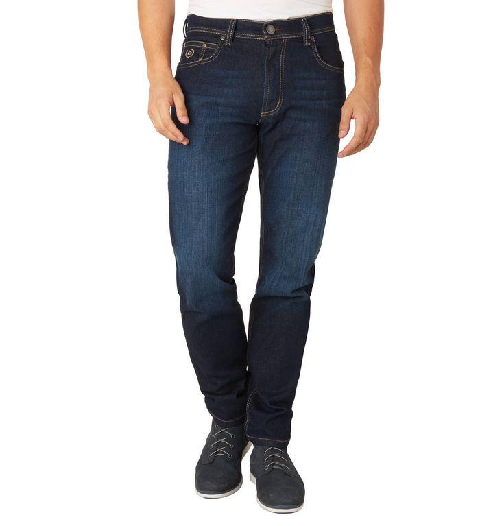 """Jeans-Hose """"Nevada"""", Straight Fit, Kontrast-Nähte"""