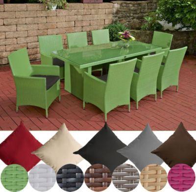 Polyrattan Essgruppe AVIGNON BIG (Tisch 200 x 90 cm + 8 x Polyrattan Stuhl Julia + Sitzauflagen), bis zu 7 Rattan-Farben und 5 Bezugsfarben wählbar Jetzt bestellen unter: https://moebel.ladendirekt.de/garten/gartenmoebel/gartenmoebel-set/?uid=14dc7af6-b979-5075-8035-4296f4026c7a&utm_source=pinterest&utm_medium=pin&utm_campaign=boards #garten #gartenmoebel #gartenmoebelset