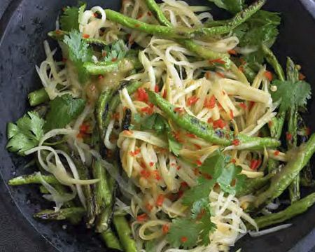 Green Papaya Salad with Candied Tamarind Vinaigrette Recipe (Photo courtesy of William Brinson)