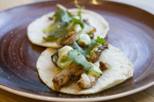 "Taco Tuesday Rick Crispy Chicken Thighs with ""Creamy"" Jalapeño Salsa"