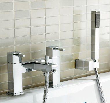 Virginia II Bath Mixer Tap with Hand Held Shower Head [PT-TB24] - £102.89 : Platinum Taps & Bathrooms