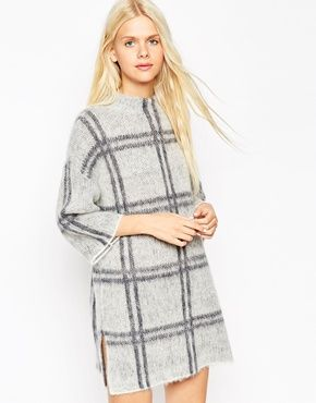 buy online jewellery ASOS Dress in Brushed Check