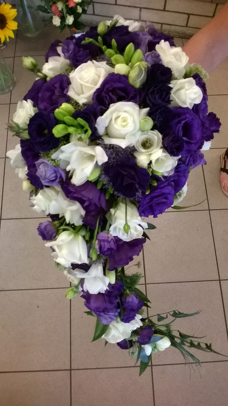 The 48 best my bouquets images on pinterest bouquets nosegay and wedding bouquet for my friend purple white wedding deep violet wedding cascade bouuet izmirmasajfo
