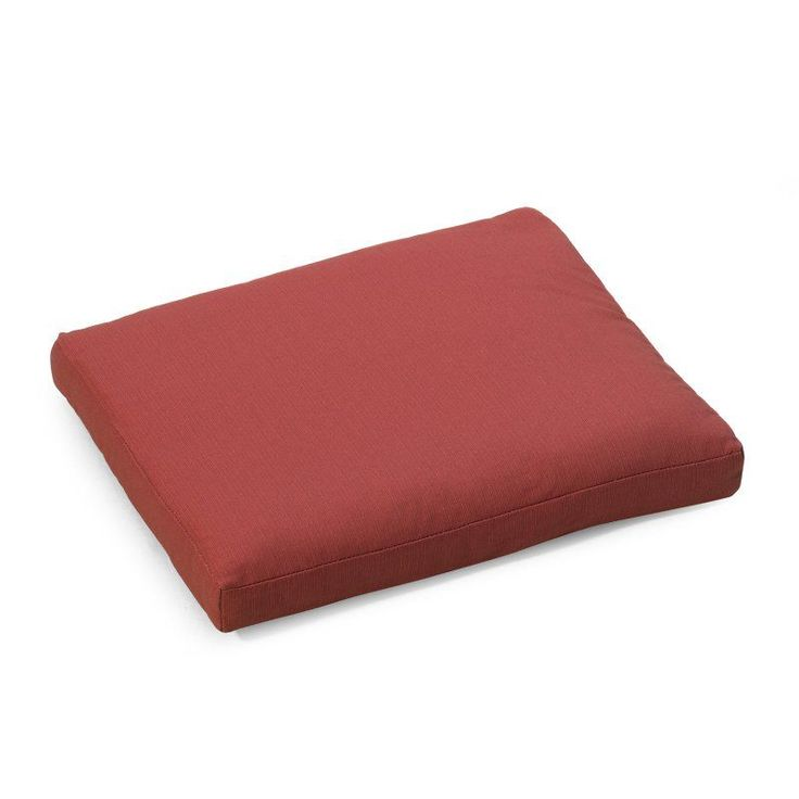 Coral Coast Nautical 19 x 19 in. Outdoor Seat Pad Timeless Red - 9412PK1-3787C