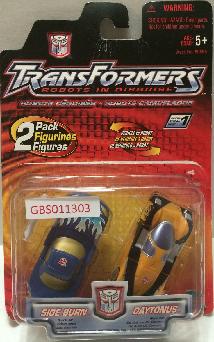 (TAS032129) - Hasbro Transformers 2 Pack - Side Burn & Daytonus