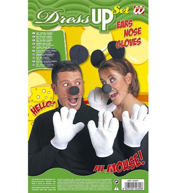Mickey mouse oren, neus en handschoenen