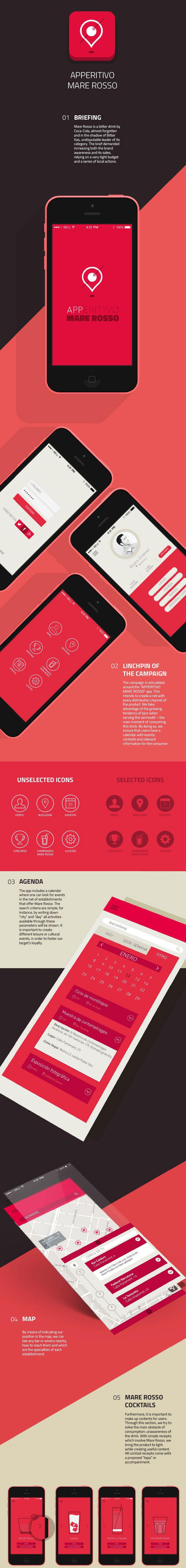 Mare Rosso mobile application design - #ux #ui