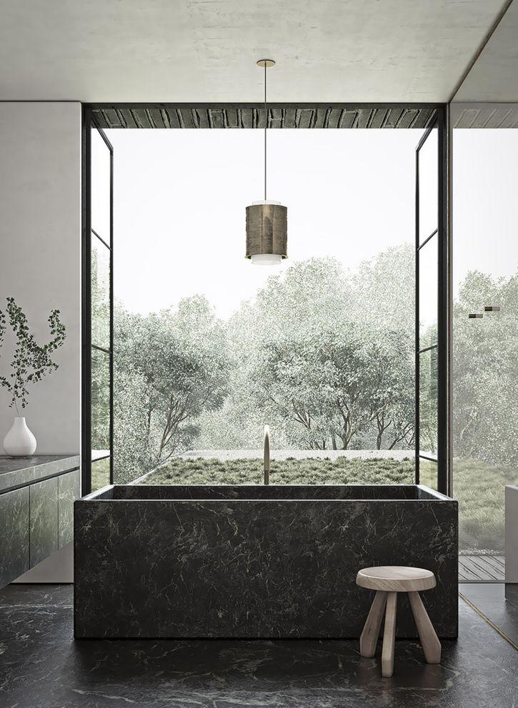 bath . minimalism . inspiration by LEUCHTEND GRAU www.leuchtend-grau.de +++ Adam Jordan Architecture   Residence in Memphis, Tennessee