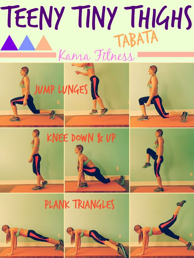 Teeny Tiny Thighs {Tabata Workout} by Kama Fitness