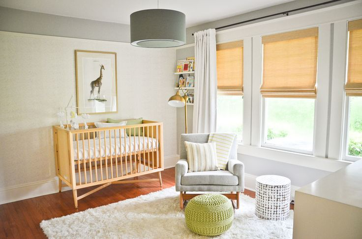 Woven Wood Shades are a stylish window treatment options for nurseries, kids rooms, and playrooms. | The Shade Store Blog