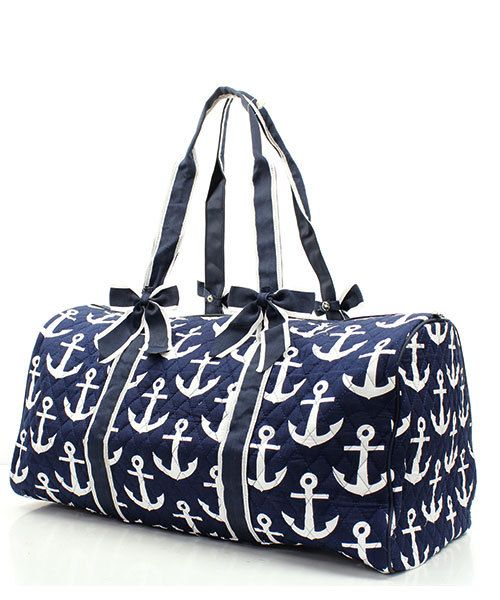 FREE SHIPPING Monogrammed Anchors Away Tote by MonogrammedbyMeeMee, $39.99