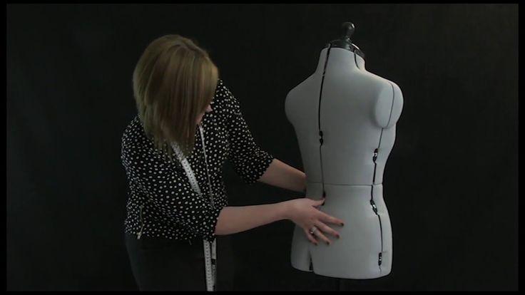 Mannequin de couture réglable Céline sur roulettes