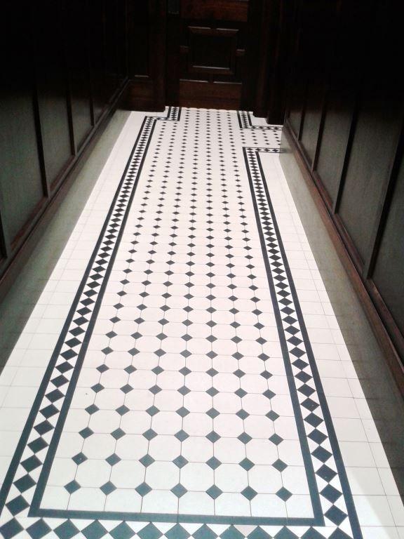 Oktagonklinker - 15x15 cm vit/svart WinckelmansVälkommen till förra sekelskiftet