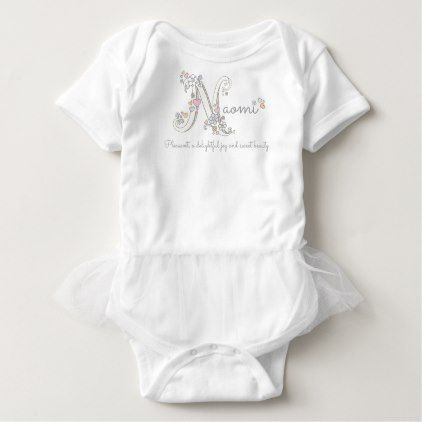 Naomi girls name meaning N monogram baby clothing Baby Bodysuit - girl gifts special unique diy gift idea