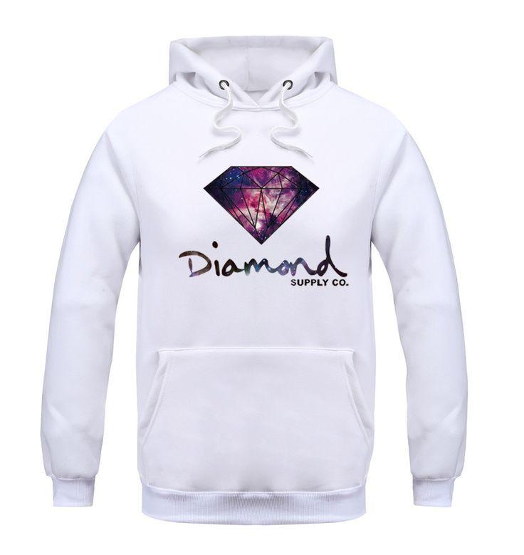 Men's Hoodies, hooded , diamond supply fleece warm
