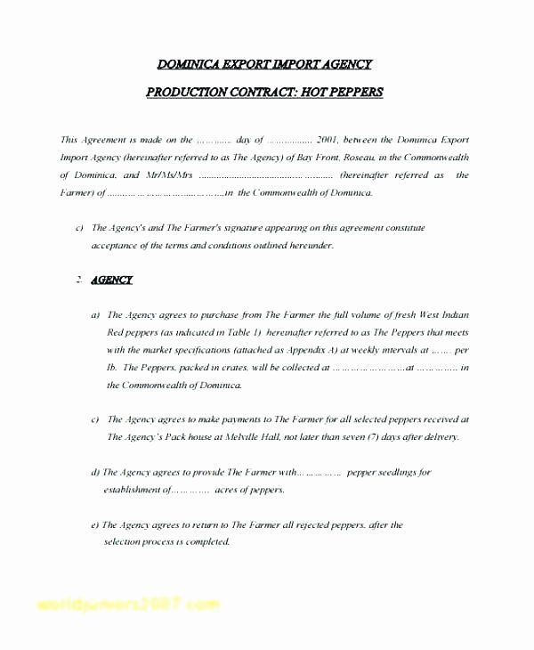 Film Production Contract Template Beautiful Production Agreement Contract Template Music Contract Template Newspaper Template Word Birth Announcement Template