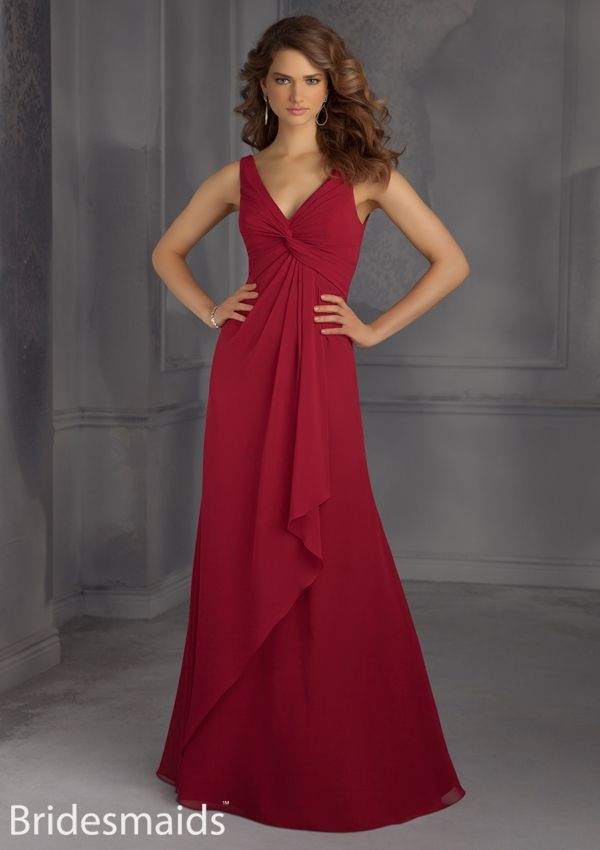 bridesmaid dress from Bridesmaids by Mori Lee Dress Style 704 Chiffon Bridesmaid Dress