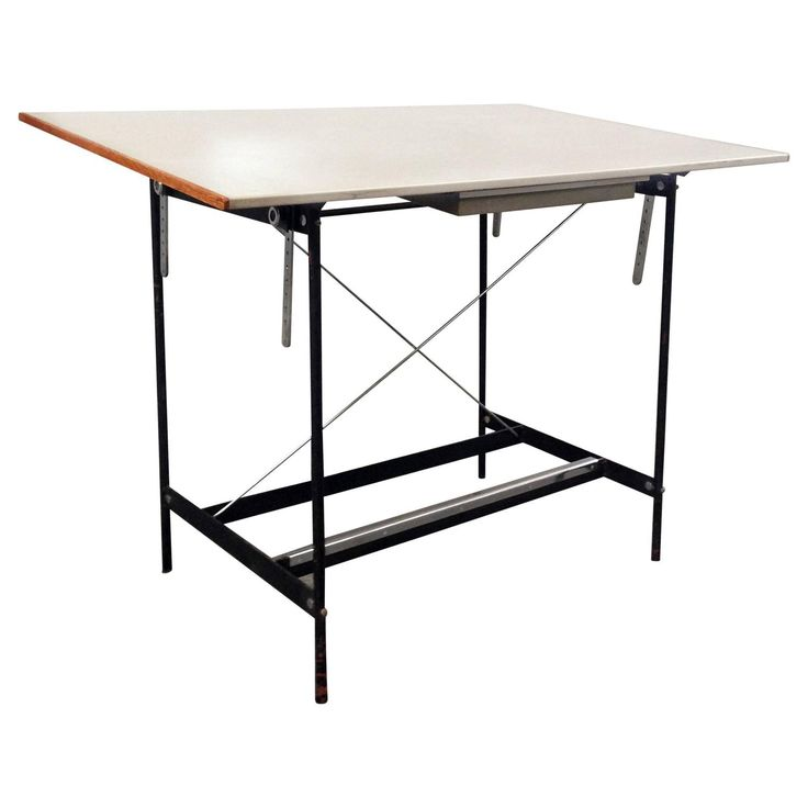 Industrial Architects Desk | From a unique collection of antique and modern industrial and work tables at https://www.1stdibs.com/furniture/tables/industrial-work-tables/