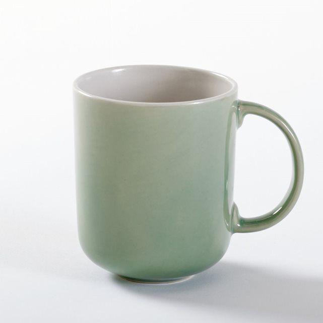 Les 4 mugs en grès Déonie : simples, contemporains, intemporels !Caractéristiques des 4 mugs en grès Déonie : - Grès très résistant.- Intérieur blanc, extérieur uni avec contour blanc.- Diamètre 8,9 cm.- Compatible avec le lave-vaisselle.- Passe au micro-ondes.Retrouvez l'ensemble de la vaisselle Déonie sur laredoute.fr