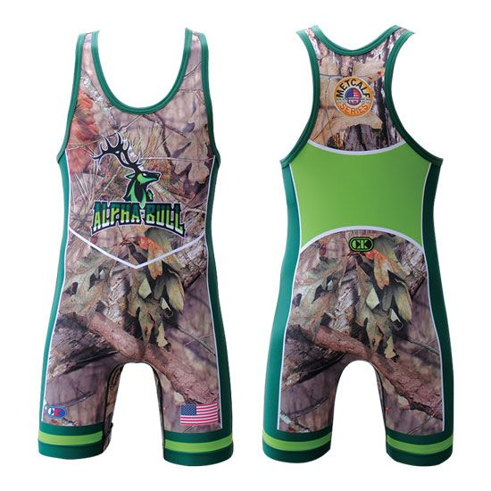 Cliff Keen Brent Metcalf Mossy Oak Series Sublimated Bull Singlet