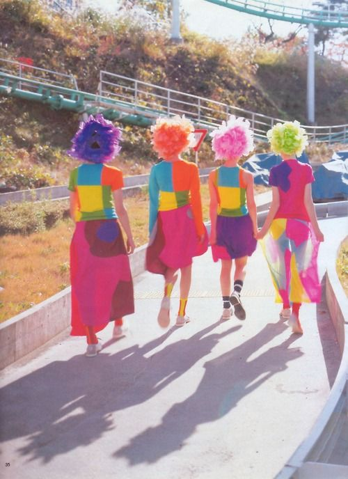 Comme des Garçons Spring/Summer 1996 collection photographed for Spur magazine.