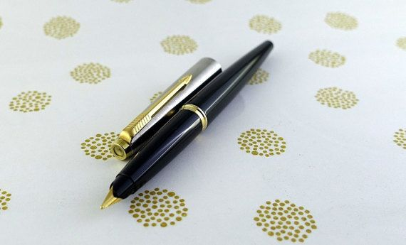 Parker 45 GT 14k Black and Gold Stylo Plume par FountainPenRebirth