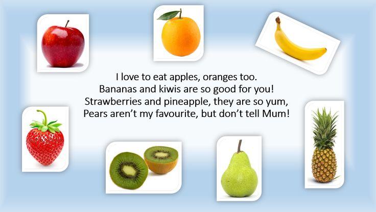 ESLaloud: Fruit Poem | ESL Poems | Pinterest | Posts, Poems and Fruit