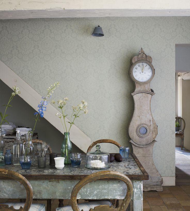 Rustic Living | Fabienne Wallpaper by Sanderson | Jane Clayton