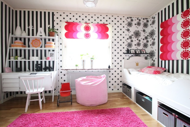 Retro girls room