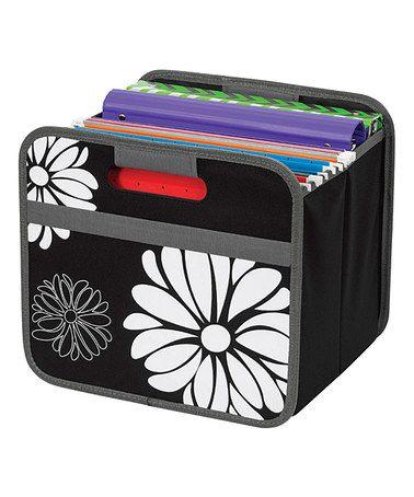 Loving this Black Floral Collapsible Storage Bin on #zulily! #zulilyfinds