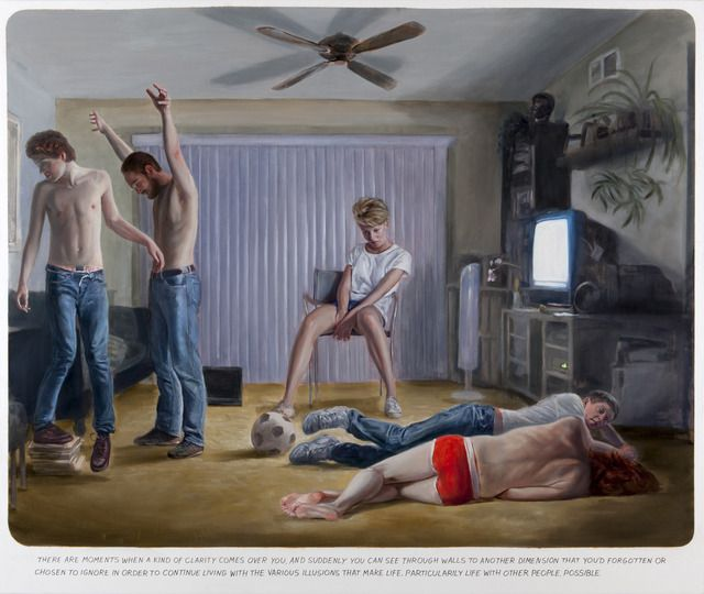 Muntean & Rosenblum, 'Untitled (There are moments when...),' 2012, oil on canvas, 220 x 260 cm, Galerie Bob van Orsouw