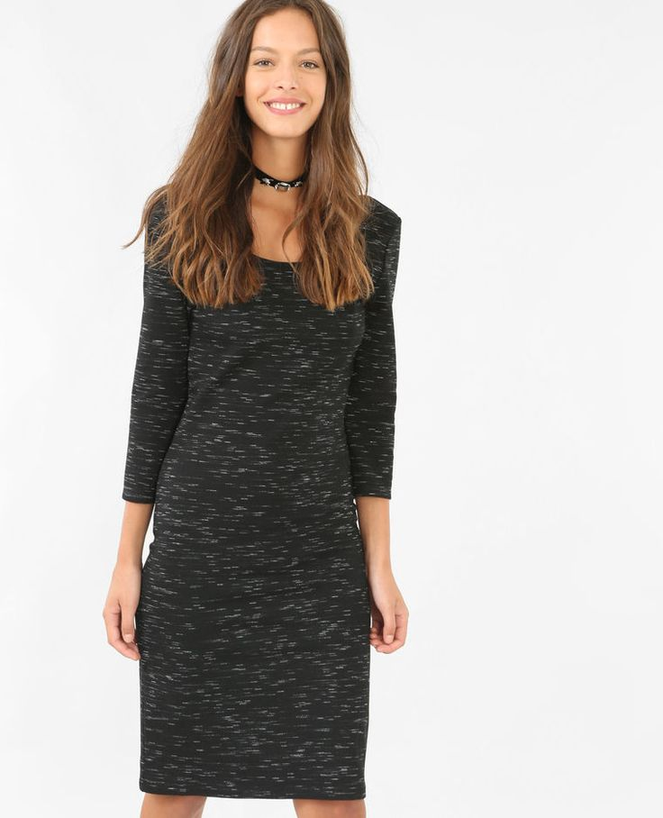 Robe longue bodycon gris