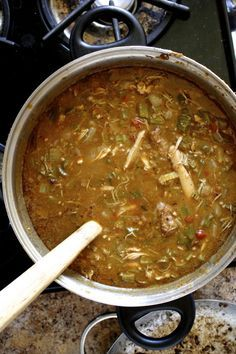 Spicy Chicken Andouille Gumbo, by thewoksoflife.com