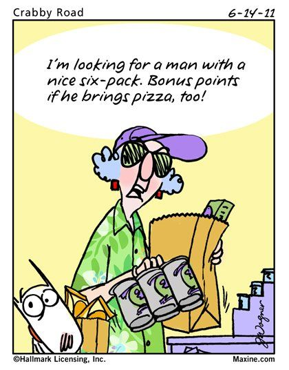 I'm looking for a man with a nice six-pack. Bonus points if he brings pizza, too!