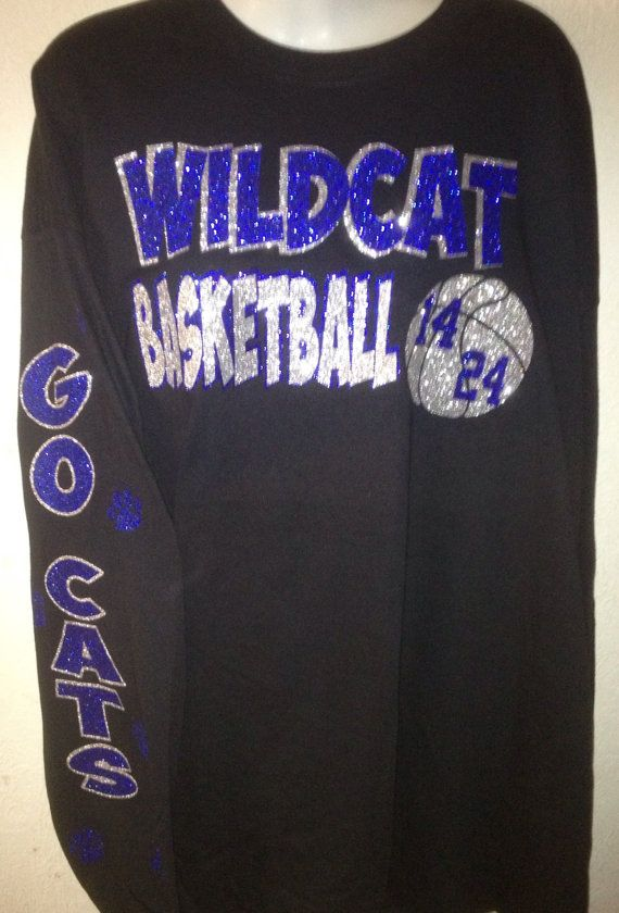 Customized School Basketball Mom Bling Shirt  by brandy7739, $20.00