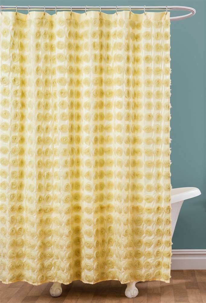 Ebay Sponsored Solid Shower Curtain In Yellow Id 3529432
