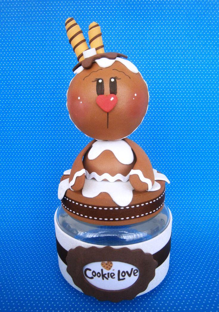 Bote de galletas goma eva. Bote decorado. Navidad