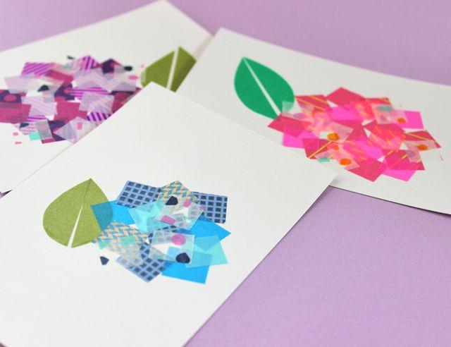 6月後半は、紫陽花の見ごろのラストスパートですね! この時期ならではのデコレーション、ムラサキ・ピンク・ブルーのマステを集めて、紫陽花を描いてみましょう! カードや手帳、プレゼントの袋や箱のデコレーションにもオススメです。 マステのご購入はコチラ ...