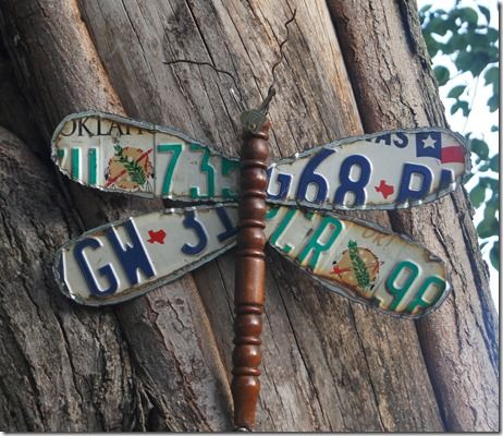 Repurposed-Life | Dragonfly Made From Discarded License Plates