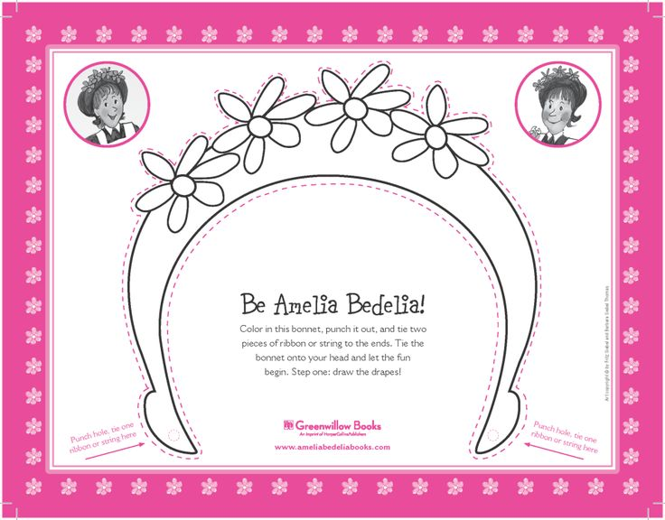 Amelia Bedelia make-your-own bonnet template