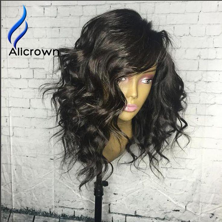 Kręcone Wig Bezklejowy Pełna Koronka Ludzkich Włosów Peruki Brazylijski Kręcone Człowieka włosy Koronki Przodu Peruk Czarnych Kobiet Kręcone U Część Peruka z Pierwszego Tłoczenia włosy