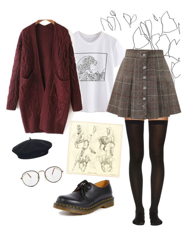 """""""Untitled #39"""" by trash4fashion on Polyvore featuring Blume, Wolford, Dr. Martens, WithChic and Element"""