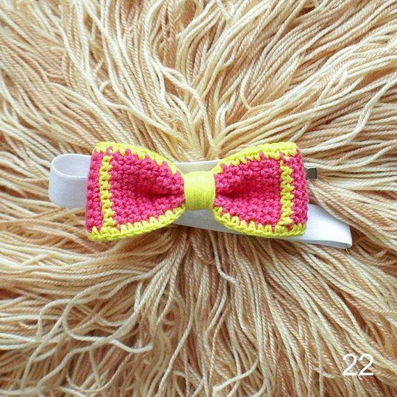 crocheted bow tie | вязаный галстук-бабочка
