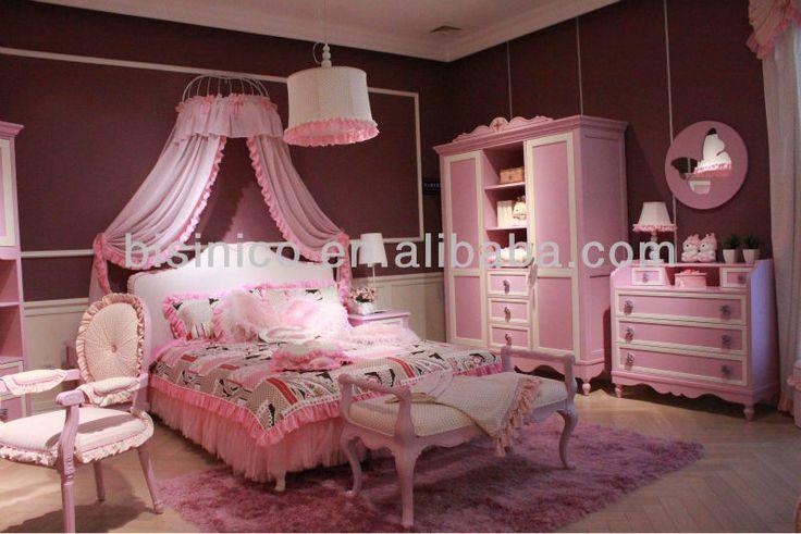 Romantice teens bedroom furniture,barbie princess bedroom set(B50610)