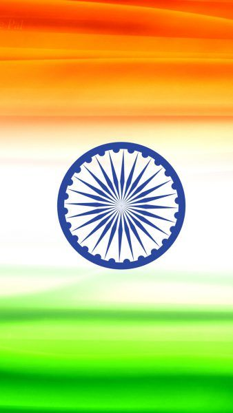 Attachment of India Flag for Mobile Phone Wallpaper 2 of 17 - Animated Tiranga