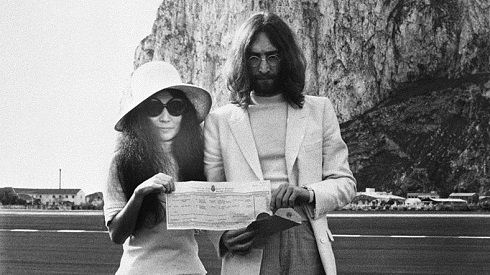 Mar. 20: Today in 1969, John Lennon married Yoko Ono at the British Consulate Office in Gibraltar