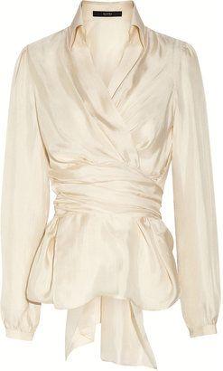 ShopStyle: Etro Silk wrap blouse