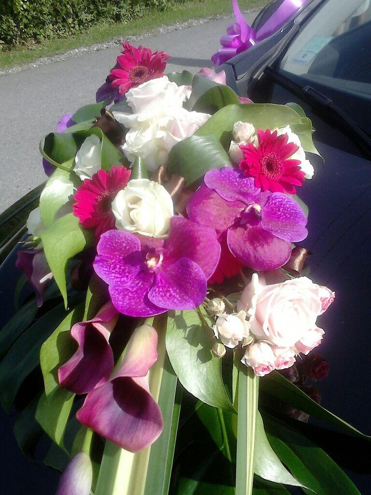 dco capot de voiture par des fleurs la maison - Fleurs Capot De Voiture Mariage